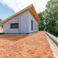 toiture végétalisée maison en ossature bois